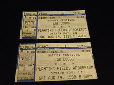LOS LOBOS Lot of 2 TICKET STUBS 1997 music band PLANTING FIELDS ARBORETUM NY VG+