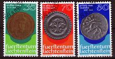 Liechtenstein 677-79, O, Münzen