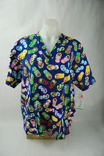 Peaches Scrub Top Sandals Print - 2XL - NWT