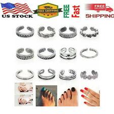 Charm Jewelry Silver Daisy Toe Ring Women 24pcs Punk Open Finger Foot Jewelry