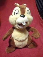 "Walt Disney World Authentic Disneyland 9"" CHIP CHIPMUNK PLUSH Stuffed TOY Animal"