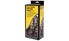 EASY ROCK CARVING TOOLS BY WOODLAND SCENICS -CARVE PLASTER ROCK FORMATIONS-EASY!