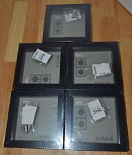 Lot of 5 Ikea Ribba Black Shadow Box Frames  5 1/2 x 5 1/2 Inch Square NEW NIP