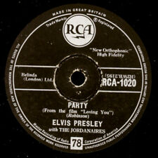 "ELVIS PRESLEY ""The King"" Party / Got a lot o' livin Schellackplatte  78rpm S1845"