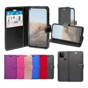 Case For Google Pixel 5a Wallet Flip PU Leather Stand Card Slot Pouch Cover