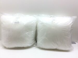 Phantoscope 18x18 Pillow Inserts Hypoallergenic Square Form Set of 2 White