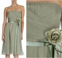 ex Coast Bandeau Pleated Silk Races Party Prom Formal Cocktail Occasion Dress