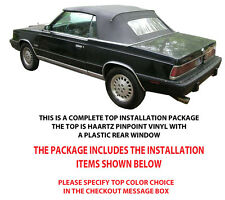 CHRYSLER LEBARON & DODGE 600 CONVERTIBLE TOP DO IT YOURSELF PACKAGE 1984-1986