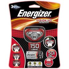 Energizer VISION HD HEADLIGHT+3xAAA,150lm,40m Beam,Pivoting Head,3 LED*USA Brand