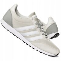 Adidas V Racer 2.0 Men`s Boy`s Running Sport Trainers Beige UK Stock