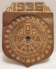 Old 1936 Radio Orphan Annie Cereal Premium Brass Decoder Badge