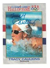 Tracy Caulkins Signed Autographed 1991 Impel Card US Olympics Swimming