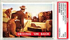 1956 Davy Crockett # 55 A - Driving -em Back - PSA 7 NM