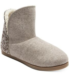 Rockport Womens Veda Trutech Slippers Grey Felt 7 New With Box