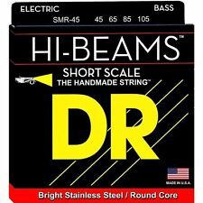 DR SMR-45 HI-BEAM STAINLESS BASS STRINGS, SHORT SCALE, MEDIUM GAUGE 4's - 45-105