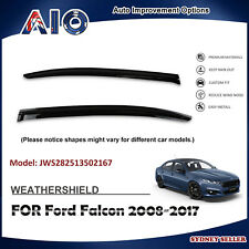 AD WEATHERSHIELD WINDOW VISOR WEATHER SHIELD FOR FORD Falcon FG 2008-2017