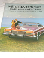 Vintage MERCURY Car Advertising Booklet 1973 Models