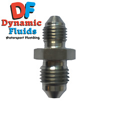 """(AN3) To AN4 Straight Stainless Steel Adaptor 3/8"""" x 24 UNF / 7/16"""" x 20 UNF"""