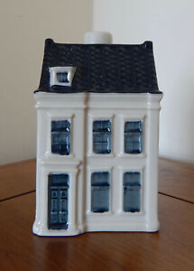 KLM Blue Delft Style Miniature House : Number 98 of 101 * ANTHONY FOKKER HOUSE *