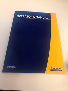 NEW HOLLAND TR70 COMBINE OPERATOR`S MANUAL