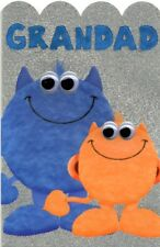 Grandad Cute My Monster Happy Father's Day Card Wobbly Eyes Greeting Cards