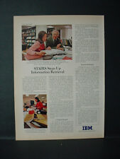 1975 IBM 3270 Information Display System Computer Vintage Print Ad 11366