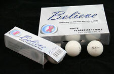 3 Dozen-Believe Pearlescent Ladies Golf Balls - White -By Founders Club