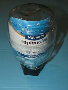 Petmate Replendish Gravity Waterer With Microban for Cats and Dogs, 0.5 Gallon
