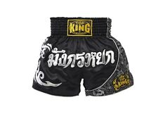 Top King Muay Thai Kick Boxing Kickboxing Mma Black Silver Shorts Tktbs-088 Usa