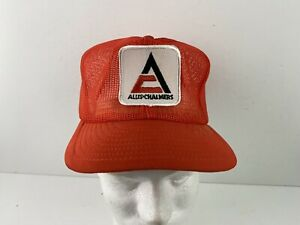 Vintage ALLIS CHALMERS Full Mesh Trucker Hat Snapback Cap K Brand Products USA