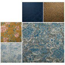 100% Silk Jacquard Quality Fabric Dress Craft Summer Material Printed Upholstery