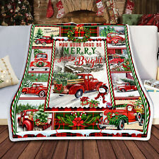 Red Truck Christmas Sofa Quilt