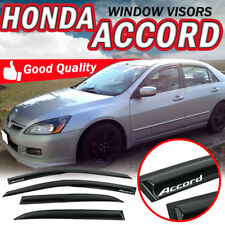 For 03-07 Honda Accord Mugen Acrylic Smoke Tape On Window Visor Rain Deflector