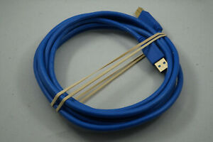 USB 3.0 Type A to Type B Cable Blue 10 Feet
