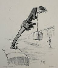 Honore Daumier France 1808 -1879 Lithograph Un dernier Bain! Le Charivari 1840