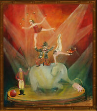 """Circus Carnival"" Oil on Canvas by Bobby Livingston"