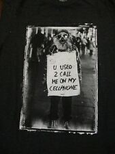 S gray U USED TO CALL ME ON MY CELLPHONE HOMELESS GUY t-shirt by SLC