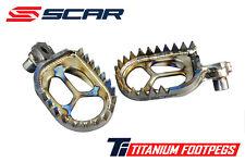 SCAR TITANIUM HONDA CRF CR 125 250 450 02-16 FUßRASTE RASTEN FOOTPEGS NO RAPTOR