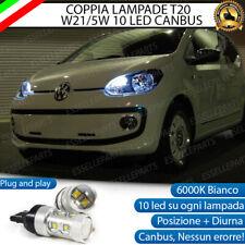 COPPIA LAMPADE T20 10 LED W21/5W DIURNE + POSIZIONE SEAT MII 6000K CANBUS
