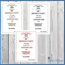 10 x 50th 60th 70th... PERSONALISED BIRTHDAY PARTY INVITATIONS BIRTHDAY INVITES