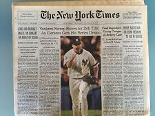 NY Times 10/28/99: Yankees Win 25th World Series