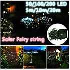 50/100/200 LED Solar String Fairy Lights Waterproof Outdoor Party Xmas Wedding