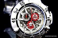 Mens Invicta Subaqua Noma III Skeletonized Chronograph Gray Red Swiss Watch New