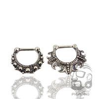Ring Nose Septum Stud Piercing  Ear Lip Bar Stainless Body Hoop Antique Bronze