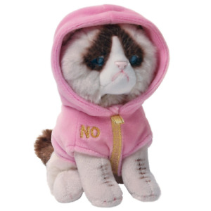 Official Gund Mini Grumpy Cat Pink Couture Hoodie Collection Plush Soft Toy Gift
