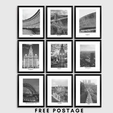 Reino Unido ciudades, viajes grabados, carteles, pared arte, decoración del hogar, A3, A4 y A5