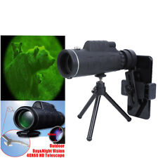 40X60 Zoom High Power Hd Vision Monocular Telescope Optical Camping Hunting
