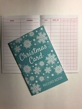 NEW 5 Year Blue Snowflake Christmas Holiday Card Address Record Book - Free Ship