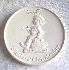 Hummel Goebel Collectors Club Member Round 4 Inch Disk Coaster, W. Germany