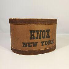Antique Knox New York Hat Box Original Store Movie Prop Display